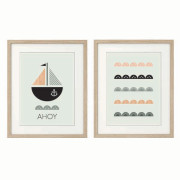 Ahoy-Series-of-Two-Nursery art prints in-Frames