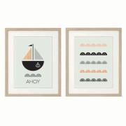 Ahoy-Series-of-Two-Nursery art prints in-Frames