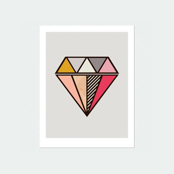 Diamond Wall Art Print - Little Design Haus
