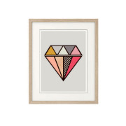 Diamond Wall art print-in-frame