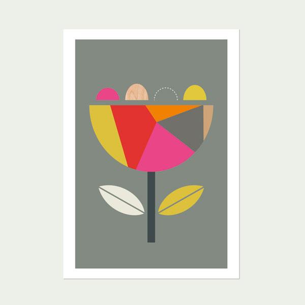 Geo-Scandi-Flower-(Pink-and-Red)-