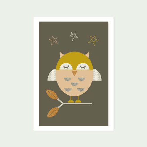 Little-Owl Nursery art print -