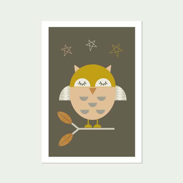 Little-Owl Nursery art print -