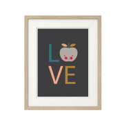 Love-Apple-(Dark-Background) Nursery art print-In-Frame