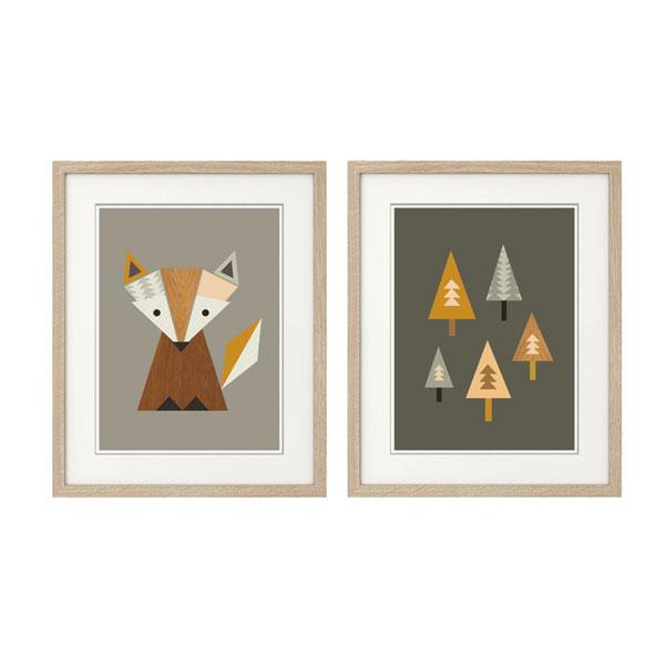 Favorite Little Fox Nursery Art, Series of Two Prints - Little Design Haus CW83